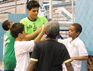 Léo Higuita, goleiro de futsal do Kairat, do Cazaquistão (Foto: Léo Borges/Divulgação)