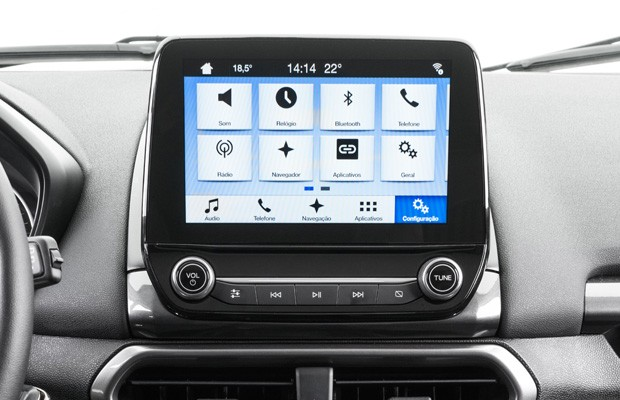 teste da central multim dia ford sync 3 auto esporte testes. Black Bedroom Furniture Sets. Home Design Ideas