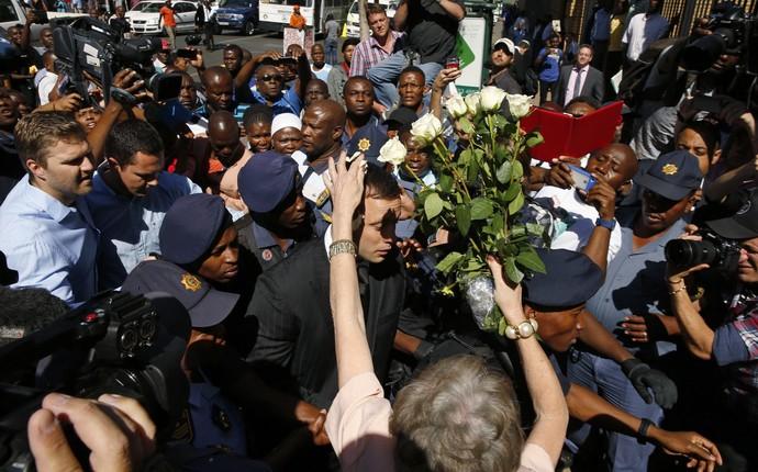 Oscar Pistorius, julgamento (Foto: Reuters)