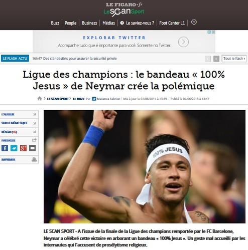 Neymar vira noticia na imprensa francesa (Foto: Reprodução SporTV)