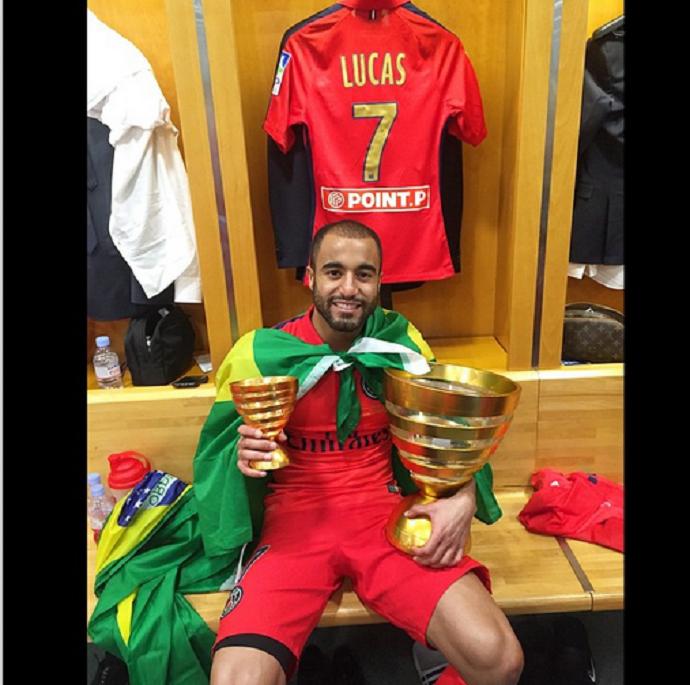 Lucas Paris Sain-Germain taça Copa da Liga da França