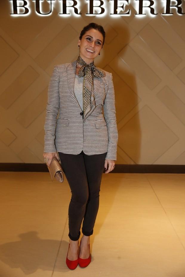 """Giovanna Antonelli na inauguração da 1ª loja """"Burberry"""" no RJ (Foto: Felipe Panfili e Alex Palarea/AgNews)"""