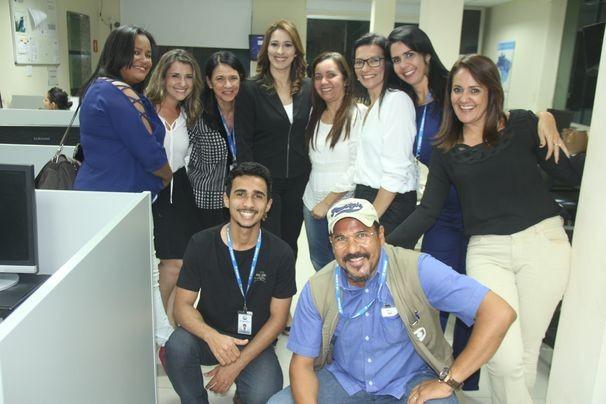 Parte da equipe que trabalhou na realização do debate (Foto: Divulgação / TV Sergipe)