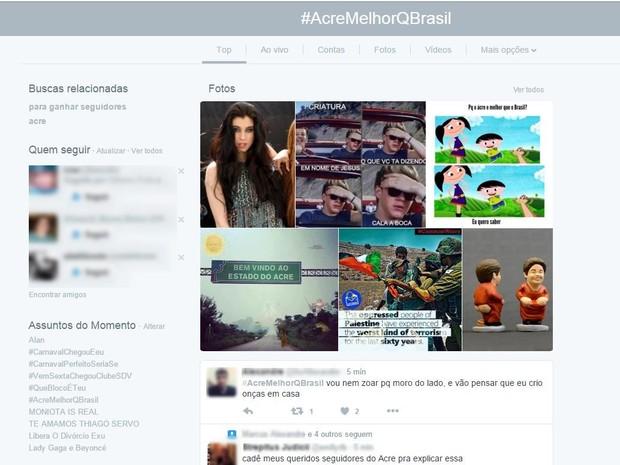 Tag chegou aos Trending Topics do Twitter nesta sexta-feira (5) (Foto: Reprodução/Twitter)