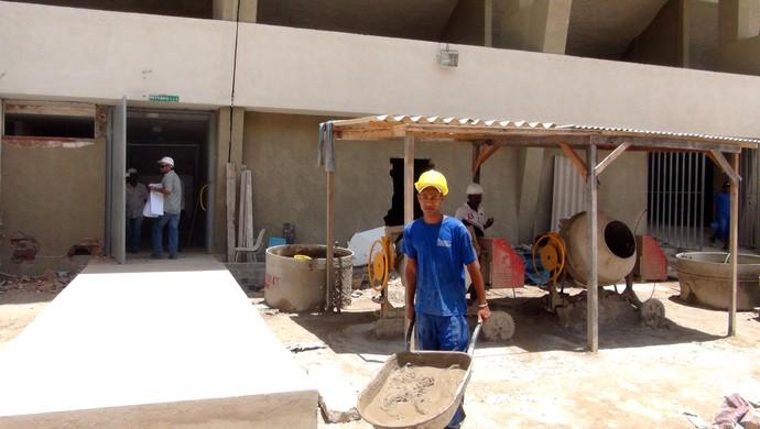Obras CTs Rei Pelé (Foto: Viviane Leão/GloboEsporte.com)