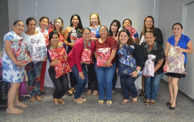 Mães ganharam presentes e café da manhã especial (Foto: Jorge Abreu/Rede Amazônica AP)