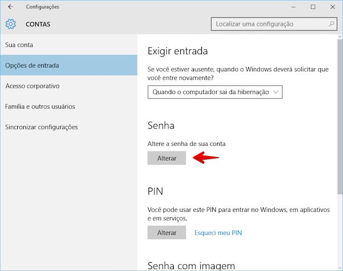 Alterando senha da conta Microsoft (Foto: Reprodução/Helito Bijora)