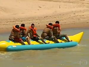 Praia tem lugar ideal para quem gosta de se aventurar (Foto: Divulgação / Tv Tem)