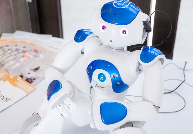 Convidado ilustre: um robô estava presente nessa edição do Wired Festival, que debateu o futuro da tecnologia e a internet das coisas (Foto: Renique Alves)