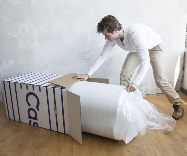 O colchão na caixa da americana Casper (Foto: Divulgação)