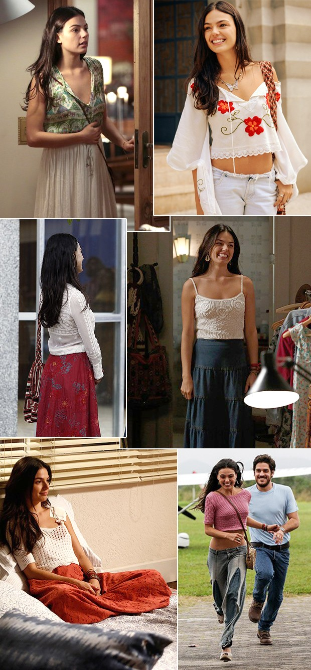 O estilo hippie de Sandra em 'Boogie Oogie'. (Foto: Divulgao / TV Globo)