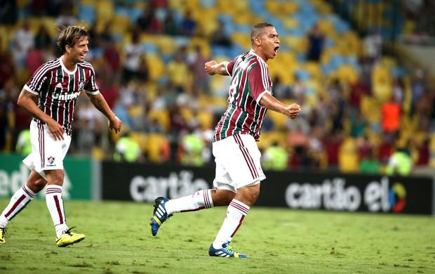 Walter comemora gol do Fluminense contra o São Paulo (Foto: André Durão)