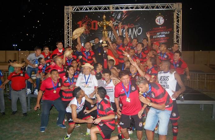 Festa Campinense, campeão Paraibano 2015 (Foto: João Brandão Neto / GloboEsporte.com)