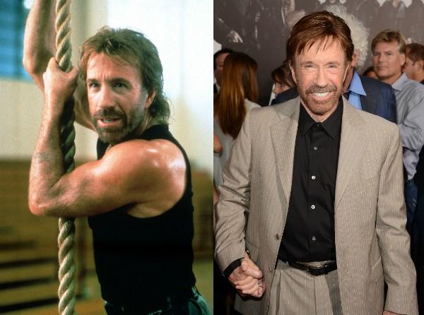 Chuck Norris fez sucesso nos anos 80 e hoje tem 75 anos (Foto: Getty Images/Divulgação)