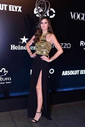 Camila Queiroz em festa em São Paulo (Foto: Raphael Castello/ Ag. News)