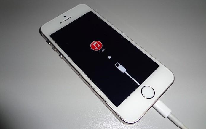 iPhone em modo de recuperação (Foto: Reprodução/Helito Bijora)