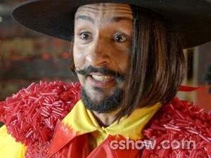 Zelão fica feliz em ter lepe como professor (Foto: Meu Pedacinho de Chão/TV Globo)