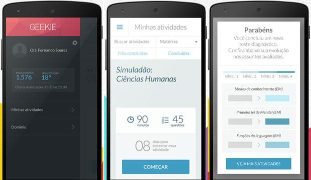 Aplicativo Geekie Games pode ser baixado nos smartphones com sistema Android (Foto: Reprodução/Geekie Games)