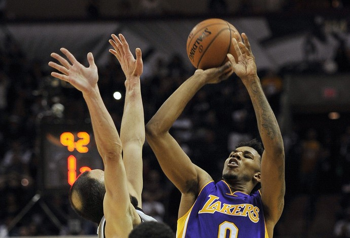 Nick Young Lakers x Spurs NBA (Foto: Getty)