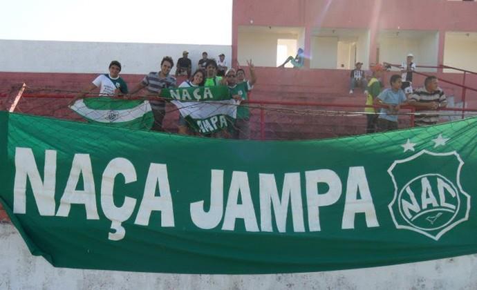 Naça Jampa, torcida do Nacional de Patos, no Estádio Teixeirão, em Santa Rita (Foto: Arquivo Pessoal)