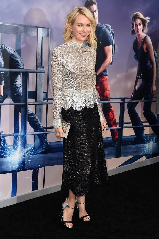 Naomi Watts em première de filme em Nova York, nos Estados Unidos (Foto: Nicholas Hunt/ Getty Images/ AFP)