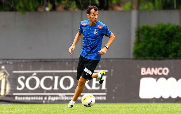 Edu Dracena no treino do Santos (Foto: Ricardo Saibun / Divulgação Santos FC)