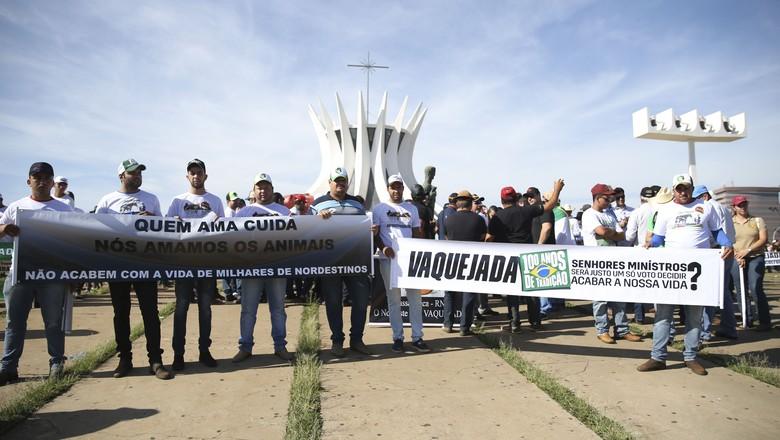 manifestação-protesto-a-favor-da-vaquejada-em-brasilia (Foto: José Cruz/Agência Brasil)