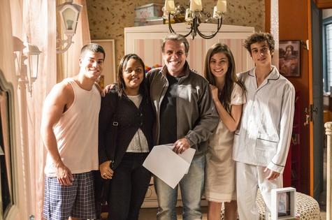 Ana Carolina Silva,  Marcus Figueiredo, Bruna Hamú, Arthur Aguiar e Guilherme Hamacek (Foto: Aline Massuca/ TV Globo)
