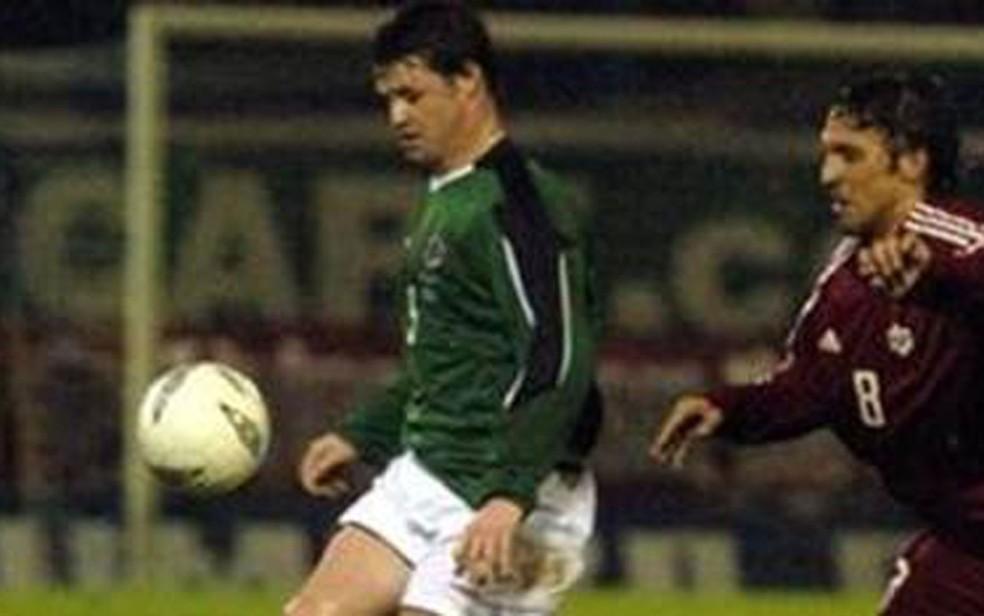 O hoje frade atuou em 27 partidas pela seleção da Irlanda do Norte (Foto: Pacemaker)