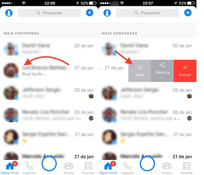 Caminho para encontrar as configurações de um chat do Facebook Messenger (Foto: Reprodução/Marvin Costa)