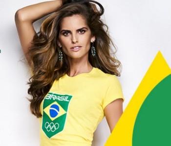 IZABEL GOULART madrinha time brasil rio 2016 (Foto: Reprodução/Time Brasil)