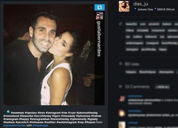 Ex-namorado de Amanda Djehdian com BBB Juliana Dias (Foto: Instagram / Reprodução)