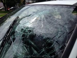 Motorista foi socorrida pelo Corpo de Bombeiros (Foto: Heloise Hamada/G1)