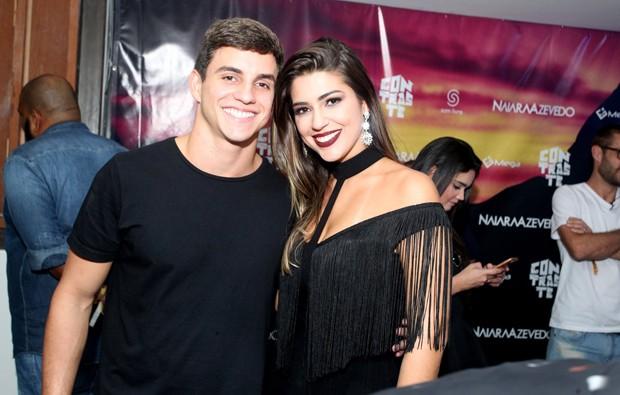 Os ex-BBBs Manoel e Vivian (Foto: Marcello Sá Barretto/AgNews)