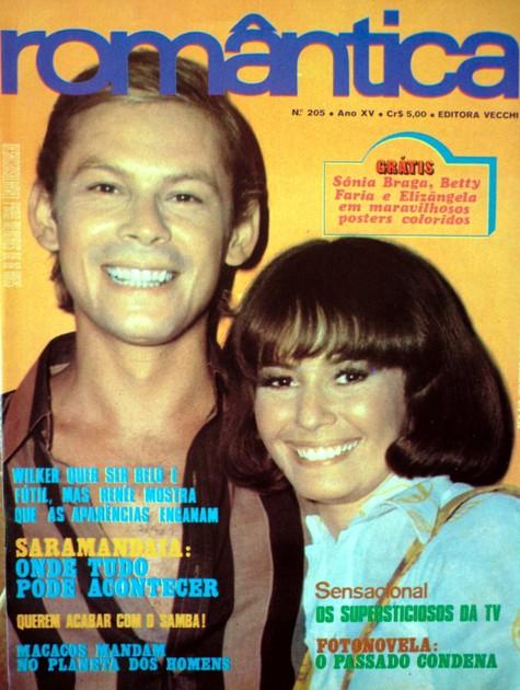 José Wilker e Renée na época de 'Anjo mau' (Foto: Reprodução da internet)