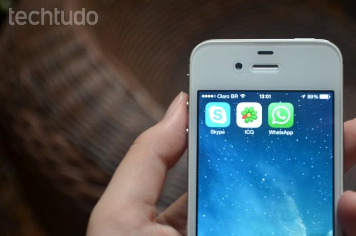 ICQ, Skype e WhatsApp disputam a atenção dos usuários de smartphones (Foto: Anna Kellen/TechTudo)