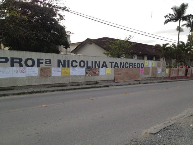 Escola Nicolina Trancredo Palhoça (Foto: Joana Caldas/G1 SC)