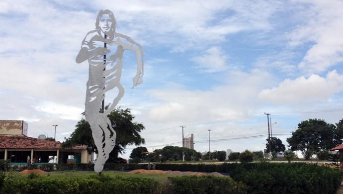 Escultura de Marinho Chagas (Foto: Augusto Gomes)