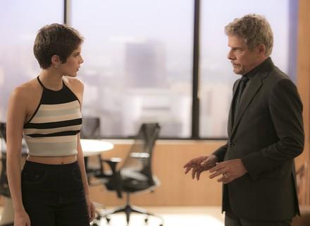 Tião e Letícia armam plano sórdido para ela reconquistar Tiago