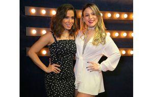 Ex-BBB Cacau ostenta corpão e tieta Anitta nos bastidores do Música Boa Ao Vivo