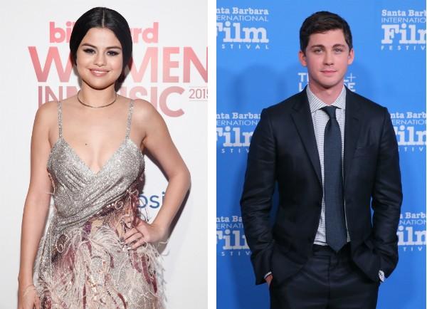 A cantora Selena Gomez e o ator Logan Lerman  (Foto: Getty Images)