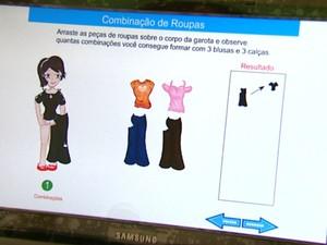 Jogo da Unesp ensina disciplinas de exatas a alunos de escola pública de Araraquara (Foto: Adriano Ferreira / EPTV)