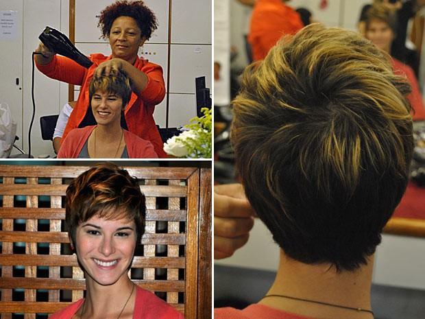 montagem cabelo dani moreno (Foto: Vídeo Show/TV Globo)