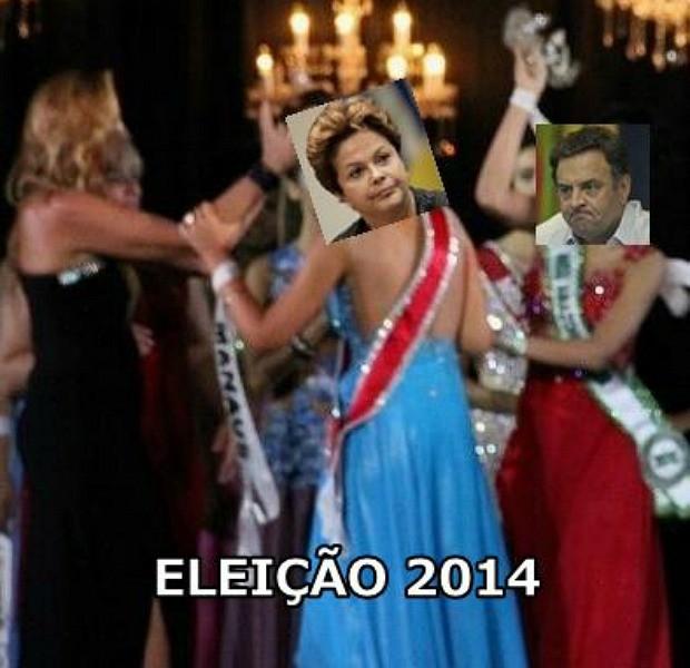Situação também ganhou 'meme' sobre o segundo turno entre Dilma Rouseff e Aécio Neves nas Eleições 2014 (Foto: Reprodução)