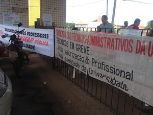 Adesão de professores soma com greve dos técnicos da Unifap (Foto: Abinoan Santiago/G1)