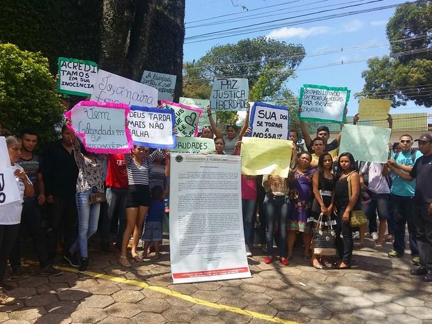 Ato ocorreu nesta terça-feira, em Manaus (Foto: Leandro Tapajós/G1 AM)