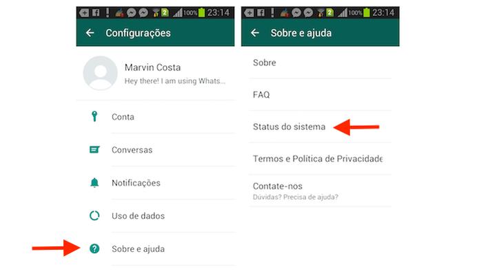 Acessando o status do WhatsApp no Android (Foto: Reprodução/Marvin Costa) (Foto: Acessando o status do WhatsApp no Android (Foto: Reprodução/Marvin Costa))