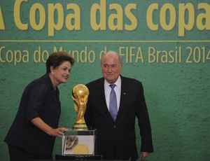 Dilma e Blatter em Brasília (Foto: José Cruz / Agência Brasil)