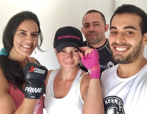 Paolla Oliveira intensifica preparação para viver uma policial lutadora em A Força do Querer (Foto: Reprodução/Instagram)
