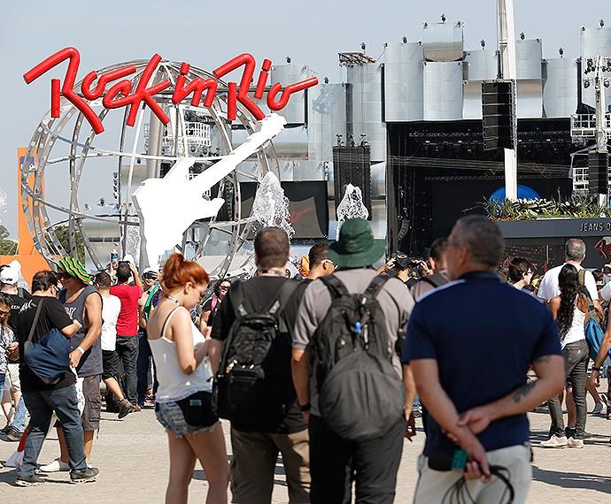 Público já começa a lotar a Cidade do Rock no primeiro dia de Rock in Rio (Foto: Fábio Rocha/Gshow)